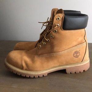 """Timberland 6"""" wheat nubuck boots tan 11"""